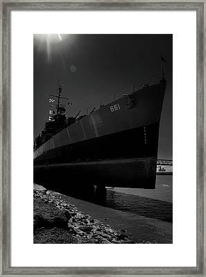 U S S Kidd Framed Print by Eugene Campbell