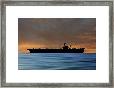 Uss Kitty Hawk 1955 V3 Framed Print