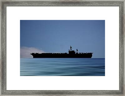 Uss Kitty Hawk 1955 V4 Framed Print