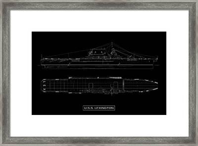 Uss Lexington Framed Print by DB Artist