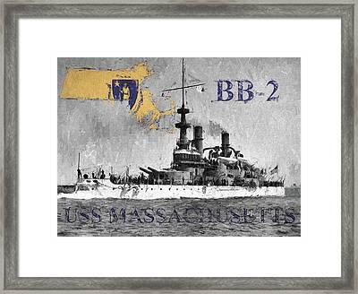 Uss Massachusetts B B-2 Framed Print