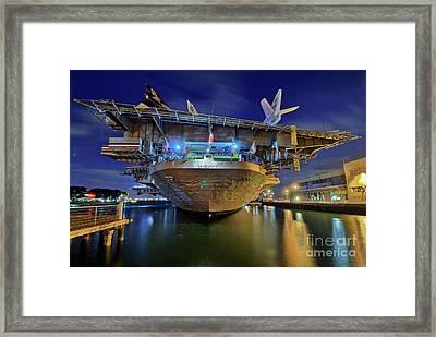 Uss Midway Aircraft Carrier  Framed Print
