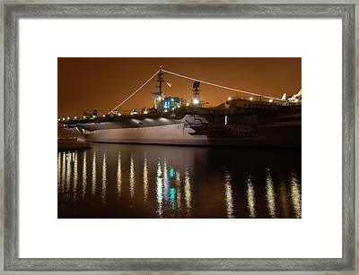Uss Midway Framed Print by Kelly Wade
