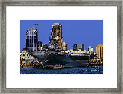 Uss Midway San Diego Ca Framed Print by Tommy Anderson