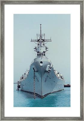 Uss Missouri At Anchor Framed Print