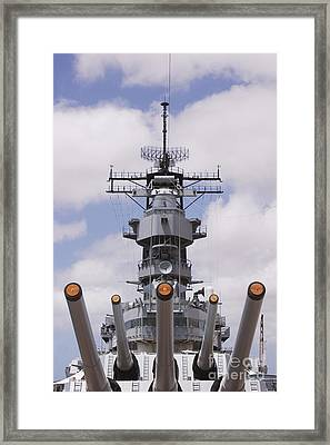 Uss Missouri Framed Print by Greg Vaughn - Printscapes