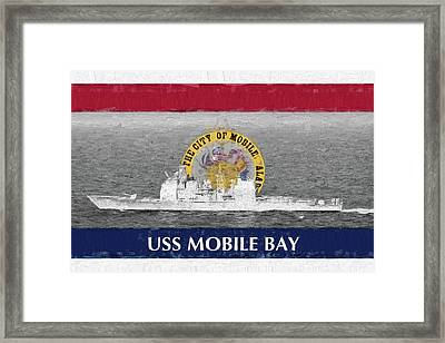 Uss Mobile Bay Framed Print by JC Findley