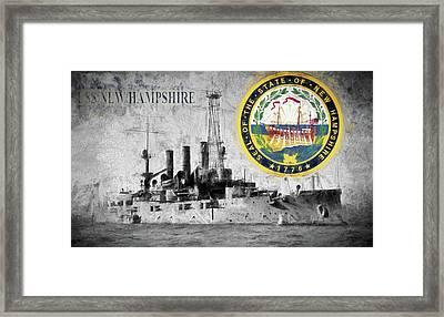 Uss New Hampshire Framed Print