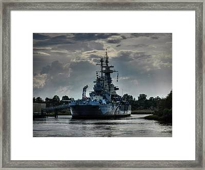 U.s.s. North Carolina 001 Framed Print by Lance Vaughn