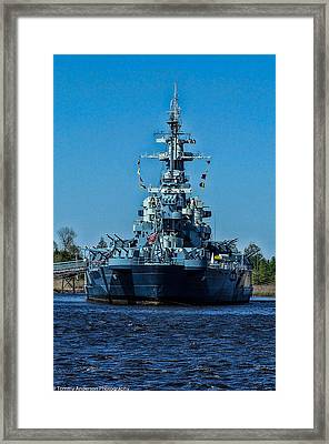 Uss North Carolina 4 Framed Print by Tommy Anderson