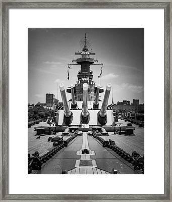 U.s.s. North Carolina Framed Print