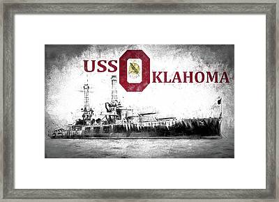 Uss Oklahoma Framed Print by JC Findley
