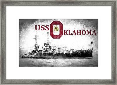 Uss Oklahoma Framed Print