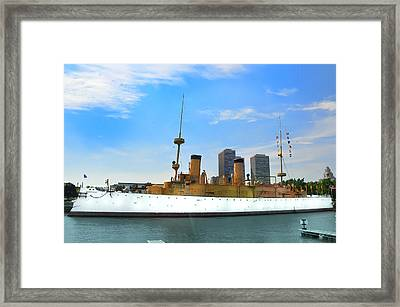 Uss Olympia Framed Print by Bill Cannon