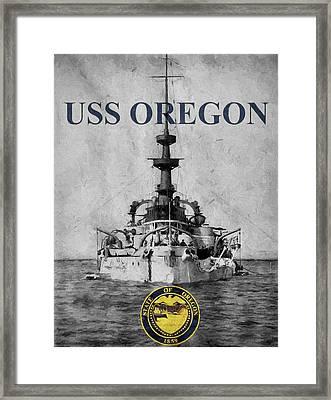 Uss Oregon Framed Print
