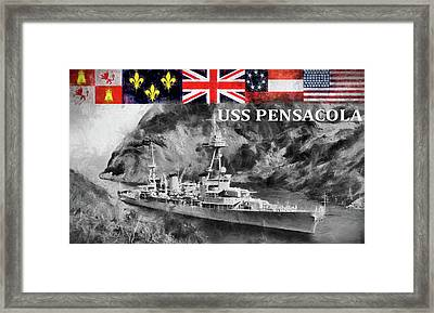 Uss Pensacola  Framed Print