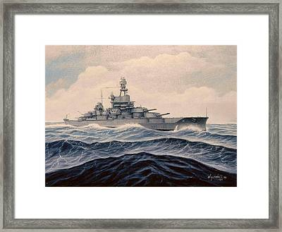 Uss Pensylvania Framed Print by William H RaVell III