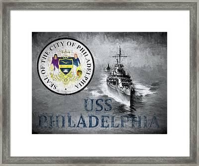 Uss Philadelphia Framed Print