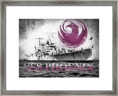 Uss Phoenix Framed Print