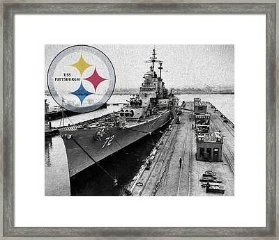 Uss Pittsburgh  Framed Print