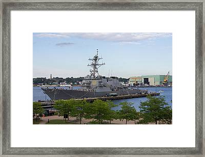 Framed Print featuring the photograph Uss Ramage In New London by Kirkodd Photography Of New England