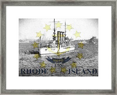 Uss Rhode Island Framed Print