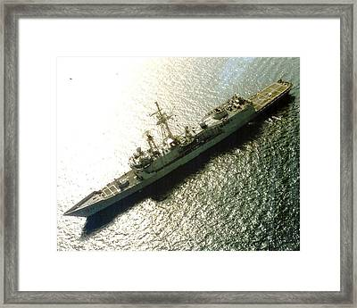 Uss Samuel B Roberts At Sea Framed Print