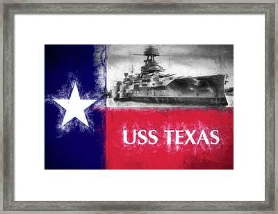 Uss Texas Flag Framed Print