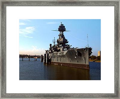 Uss Texas Framed Print