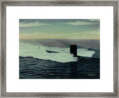 Uss Topeka Framed Print by William H RaVell III