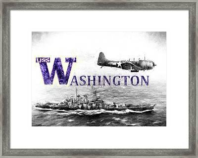 Uss Washington Framed Print by JC Findley