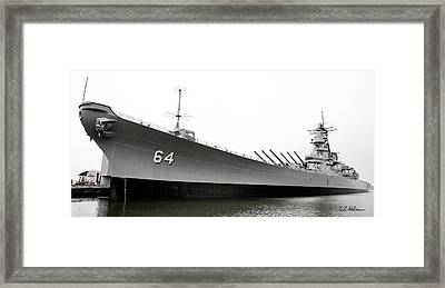 Uss Wisconsin - Port-side Framed Print