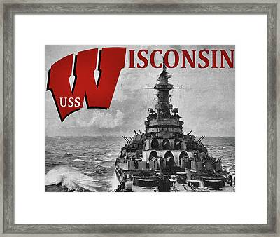 Uss Wisconsin Framed Print by JC Findley