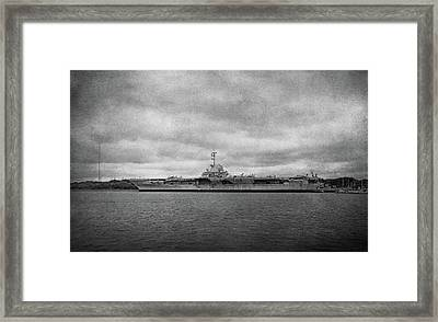 Framed Print featuring the photograph Uss Yorktown by Sandy Keeton