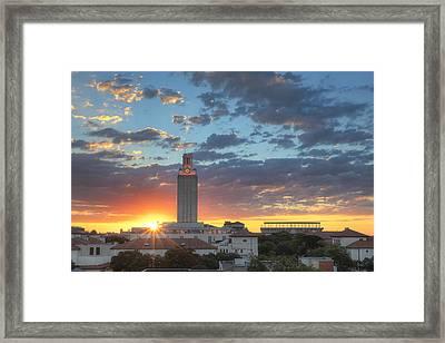 Ut Tower At Sunrise 2 Framed Print