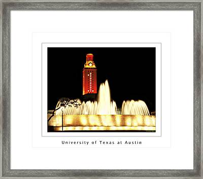Ut Tower Poster Framed Print by Marilyn Hunt