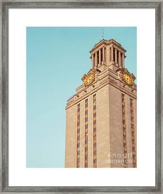 Ut Tower Framed Print by Sonja Quintero