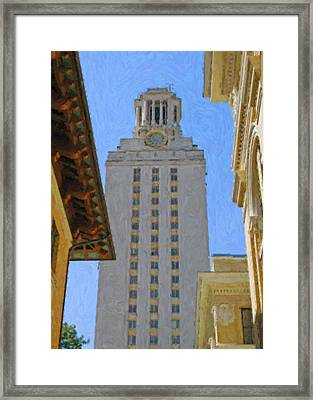 Ut University Of Texas Tower Austin Texas Framed Print