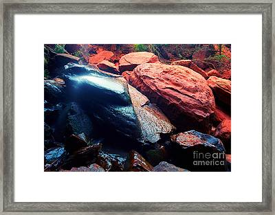 Utah - Emerald Pool Boulders Framed Print