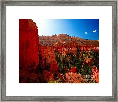 Utah - Navajo Loop Framed Print by Terry Elniski