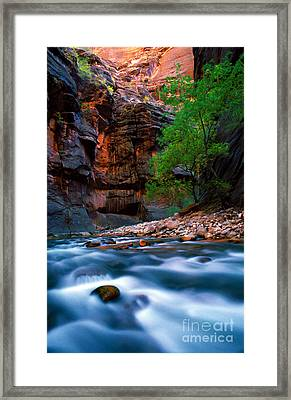 Utah - Virgin River 4 Framed Print