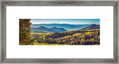 Utah Autumn Panorama Framed Print