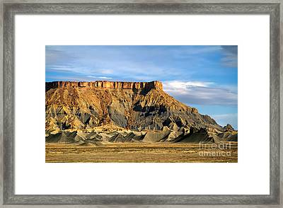 Utah Butte Framed Print