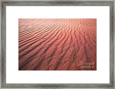 Utah Coral Pink Sand Dunes Framed Print by Ryan Kelly
