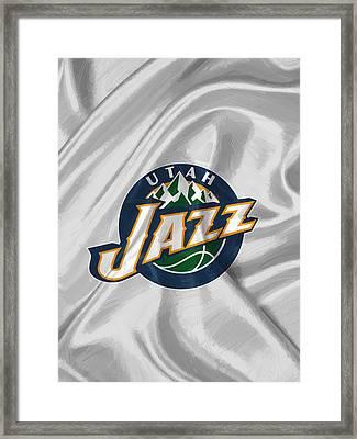 Utah Jazz Framed Print by Afterdarkness