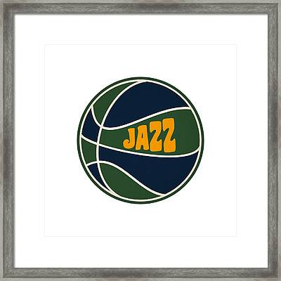 Utah Jazz Retro Shirt Framed Print