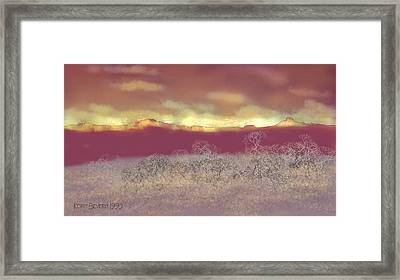 Framed Print featuring the digital art Utah by Kerry Beverly