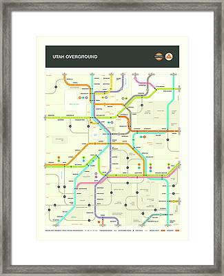 Utah Map Framed Print