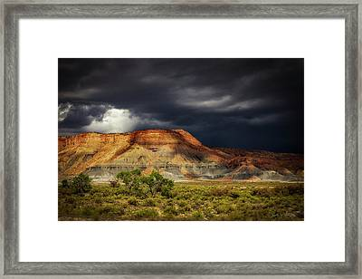 Utah Mountain With Storm Clouds Framed Print