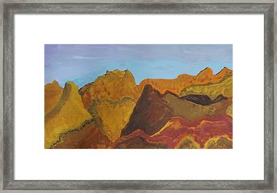 Utah Mountains Framed Print